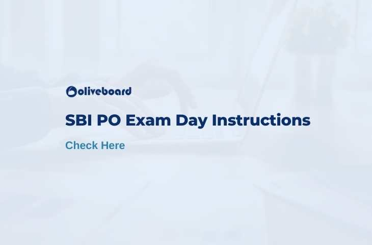 sbi po exam day instructions