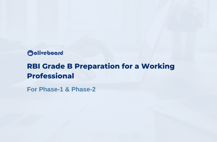 RBI Grade B Preparation for a Working Professional