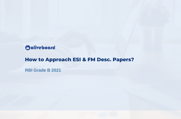 ESI & FM Descriptive Papers of RBI Grade B